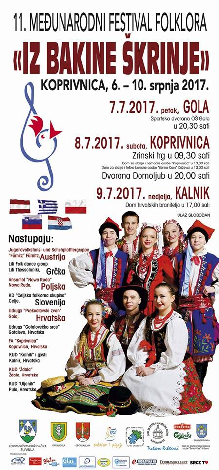 "11. Međunarodni festival folklora ""IZ BAKINE ŠKRINJE"""
