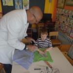 Radionica s umjetnikom kiparom g. Dragutinom Ciglarom u vrtiću Zvončić Gola